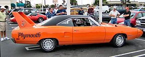 The Plymouth Superbird was famous for its spoilers