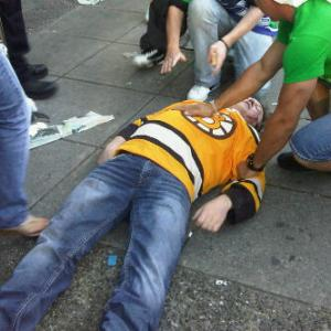 This man was stabbed because the Bruins beat the Canucks in the Stanley Cup two years ago.