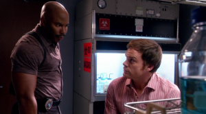 "There's at least a 60% chance that Sgt. Doakes just said or is about to say ""motherfucker"" in any screenshot you find of him."