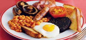 I know I'll feel better once I have a Full English in me. HEYYO