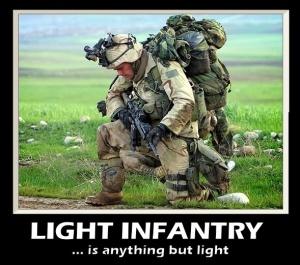 I'm not light infantry but I feel this dude's pain.