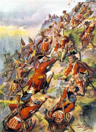 """""""Come on, lads! If we climb this cliff in full gear and fight a huge battle against the French, we can win  Quebec!"""" """"Yeah...wait, what?"""""""